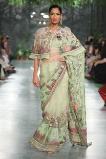 Hand embroidered sari