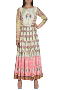 Printed long anarkali kurta