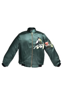 Toucan embroidered Bomber Jacket