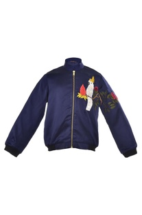 Cockatoo embroidered Bomber Jacket