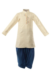 Thread Embroidered Pathani Suit