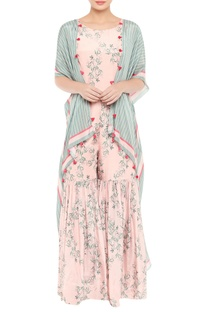 Sharara style jumpsuit with jacket