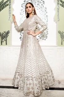 Mirror Embroidered Gown