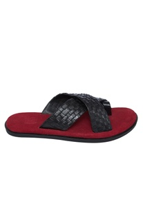 Dual Hued Cross Strap Sandals