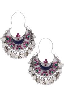 Meenakari Ghungroo Dangler Earrings
