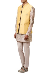 Embroidered Double sided nehru jacket