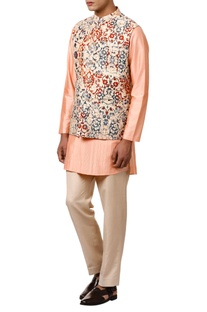 Double sided printed nehru jacket