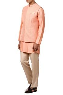 Threadwork embroidered nehru jacket