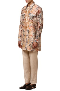 Printed short kurta with front pockets