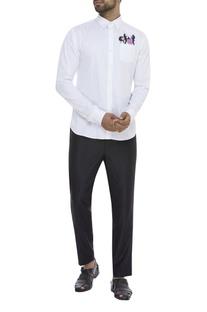 Musician Print Casual Shirt