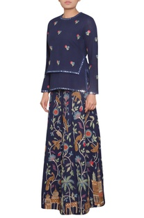 Zardozi & Parsi Embroidered Skirt