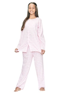 Heart Printed Pyjama Set