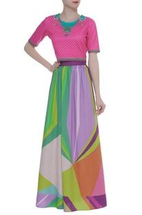 Printed multicolor skirt
