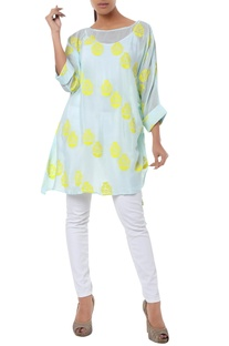 Polka dot tunic with drawstring