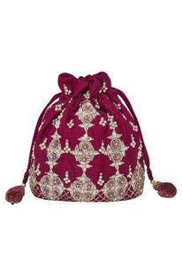 Bead Embroidered Potli Bag
