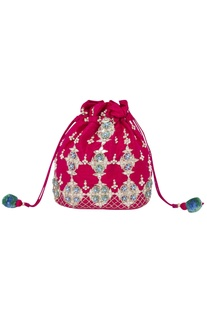 Sequin & Bead Embroidered Potli Bag