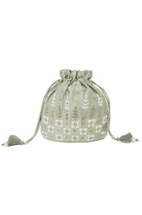 Sage Embroidered Potli bag