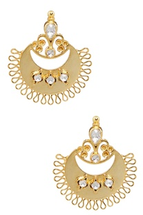 Crystal Architecture Inspired Chandbaali Studs