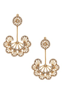 Floral Crystal Architecture Inspired Dangler Earrings