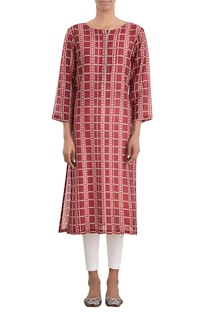 Printed straight fit tunic