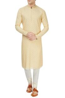 Yellow and off-white sherwani set