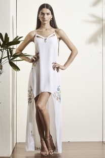 White high low gown