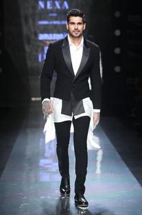 Black & grey blazer