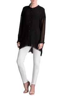 Black high low tunic