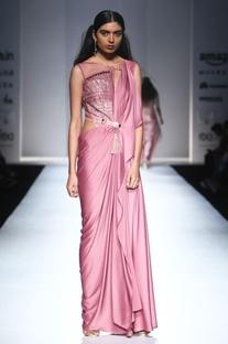 Dusky pink embellished gown
