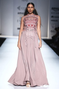 Smokey purple embroidered gown