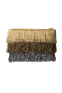 Gold & silver beaded pouch