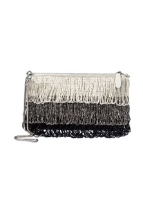 Silver & black beaded pouch