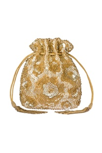 Gold embroidered potli