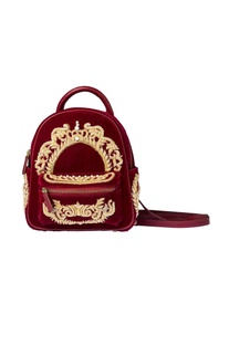 Wine embroidered bag pack