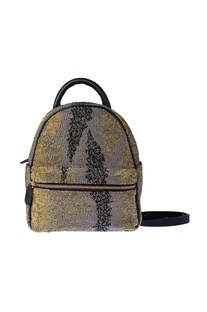 Silver, black & gold ombre backpack