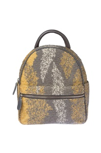 Grey beadwork mini backpack