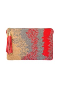 Red ombre beadwork tablet sleeve