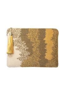 Gold beadwork ombre tablet sleeve