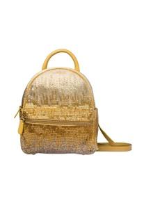 Gold & silver embellished backpack