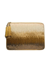 Multi-colored ombre laptop sleeve