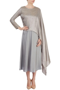 Silver layered dress