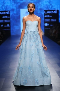 Powder blue embroidered ball gown