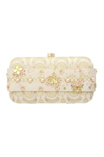 White box clutch with digital print