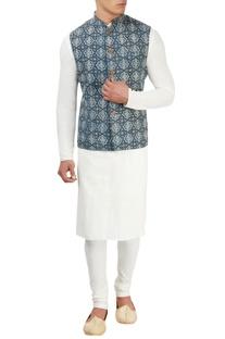 Vegetable printed nehru jacket