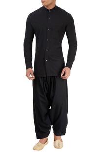 Black elastic salwar