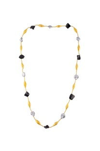 Black & gold chained necklace