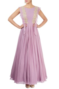 Lilac embellished gown