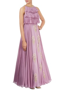 Lilac layered gown