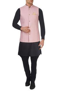 Pink & blue reversible bandhi