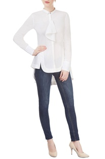 White shirt with fabric detailing